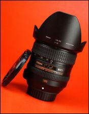 Nikon Af-s 24-85mm F3.5-4.5 G VR SWM AF Zoom lente + IF ED Tapa trasera de objetivo & Capucha