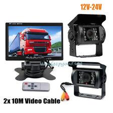 """2x 18 IR cámara de visión trasera de marcha atrás + Kit de monitor LCD de 7 """""""