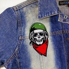 RED Skull Metal Mulisha Racing Bike Embroidered Iron saw Patch Hat Jacket Jeans