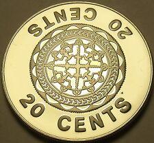 Large Rare Proof Solomon Islands 1978 20 Cents~5,122 Minted~Malaita~Free Ship