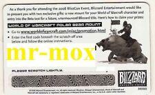 WoW Blizzcon 2008 Polar Bär - Big Blizzard Bear - Großer Blizzardbär - Loot Card