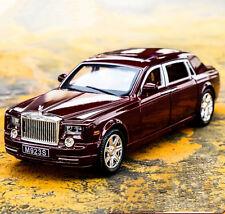 1:24 Rolls-Royce Phantom Diecast Metal Limousine Model Car Vehicle Wine Red