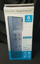 Belkin Slim Power Strip 8 Outlet Surge Protector Low profile plug, Safety Covers