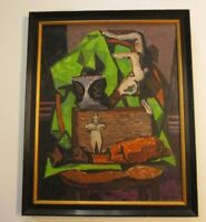 ERLE LORAN PAINTING 1940'S ABSTRACT EXPRESSIONISM MODERNIST CALIFORNIA LISTED