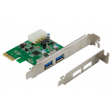 Hot Sale 2-Port USB 3.0 PCI-Express PCIe Adapter Controller Card ~ Low Profile