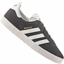Adidas Originals Gazelle Youth Solide Gris Suede Formateurs Chaussures 37.3 eu