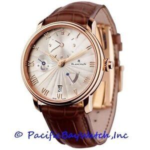 NEW Blancpain Villeret GMT 6665-3642-55B Men's Watch.