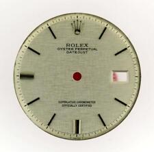 Vintage Men's Rolex 36mm Datejust NQ 1601 1603 Silver Linen Stick Dial S/S #Y1