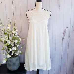 Altar'd State Peasant Ivory Sleeveless Shift Dress Size Small NWT