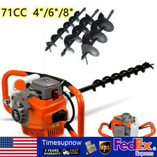 2 Stroke 71cc Gas Powered Post Hole Digger Auger Borer Fence Ground Drill 3bits
