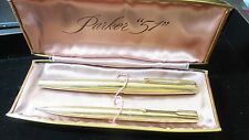 Vintage Rare~Parker 61 President Solid 14K (585) Gold Fountain Pen + Pencil Set