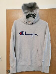 CHAMPION WOMEN'S EMBROIDERED HOODIE SIZE 2 XL GREY