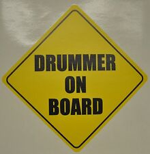 Drummer on Board Bumper Sticker Decal,Drum Sticker,Drummer sticker Music Sticker