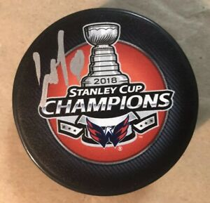 Autographed DMITRY ORLOV Signed Washington Capitals 2018 Stanley Cup Puck