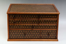 Japanese Traditional Parquetry YOSEGI-Zaiku Small Chest of Drawer #25781