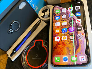 Apple iPhone Xs MAX (256gb) Cricket AT&T h2o (A1921) Gold {iOS13}100% LCD iSSue