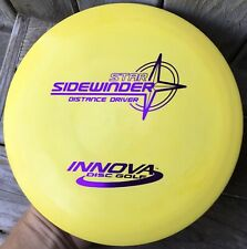 Rare Pfn Patent #s Yellow Star Sidewinder 173 g Innova Disc Golf Oop 8.5+/10