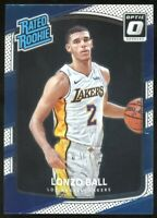 2017-18 Donruss Optic Lonzo Ball Rated Rookie Lakers Pelicans RC