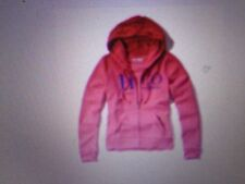NWT HOLLISTER WOMENS PINK LOGO GRAPHIC FULL ZIPPED HOODIE SIZE M