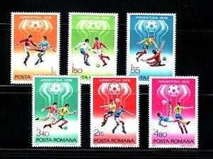 Stamps Sports Futbol. Romania 1978 World Cup Argentina 78 3094/99 6v