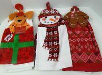 St. Nicholas Square 2 Piece Set Kitchen Towels Tie Top Christmas Holiday Choice