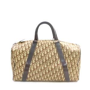 Christian Dior Boston Bag  Browns Canvas 2303100