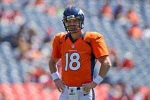Nike Peyton Manning Denver Broncos Authentic Sewn Jersey Orange 468920 831 sz M
