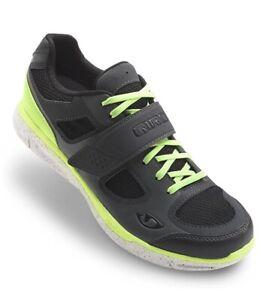 Womens Giro Whynd SPD Cycling Shoes Black Neon Yellow EU 41 US 9