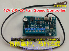 DC 12V 24V 2A Automatic PWM PC CPU Fan Temperature Control Speed Controller BNME