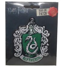"""Harry Potter Slytherin New Crest Logo 4"""" Tall Embroidered Patch"""