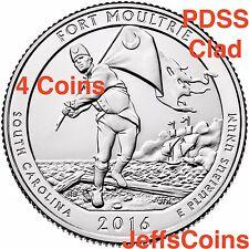 2016 P D S S Fort Moultrie ATB Park QUARTER 4 SET PDSS Clad Proof Moltre Sumter