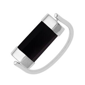 925 Sterling Silver 1.4 Ctw Black Onyx Gemstone Women Ring