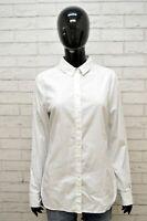 Camicia Bianca Donna TOMMY HILFIGER Polo Taglia S Maglia Shirt Woman White