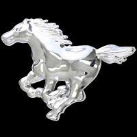 3D Chrom Emblem Aufkleber Logo Mustang Pferd Stallion Hengst reiten Reiter L049