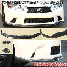 SK Style Front Bumper Lip (Urethane) Fits 13-15 Lexus GS350