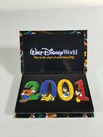 2001 Walt Disney World Large 4 Pin Set Goofy Donald Duck Mickey Mouse Pluto RARE
