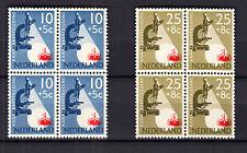 Nederland 661 - 665 Kankerbestrijding 1955 in postfrisse blokken van 4