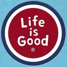 "NEW LIFE IS GOOD 4"" STICKER DECAL...RED COIN!!"
