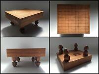 Japanese 33 × 36 cm Wooden Shogi Game Board Vintage Square Trout Leg W256
