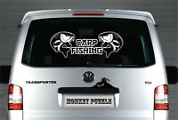 XL CARP FISHING DECAL LOGO FOR CAR VAN LAPTOP VINYL STICKER FUNNY angling
