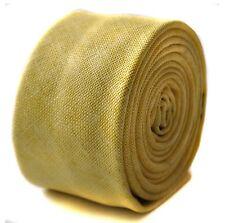 Frederick Thomas mens skinny linen tie in lemon yellow FT1679 RRP£19.99