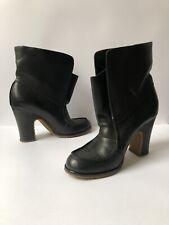 Authentic Maison Martin Margiela Black Leather Boots - W/ Box + Packaging -EU 39