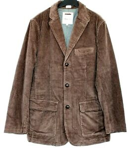 J Crew Sports Jacket Mens ' Vintage Cord' Brown Blazer Medium Sample NWOT