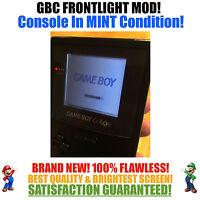 Nintendo Game Boy Color GBC Frontlight Front Light Frontlit Mod Black MINT NEW
