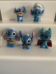 5 Disney Stitch Christmas Tree Decorations Small Figures