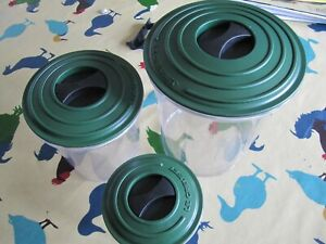 3 x VINTAGE LE CREUSET SEAL & STORE CANISTERS