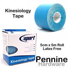 Kinesiology Sports Tape Sticky 5cm X 5m Roll Blue