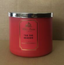 Bath & Body Works White Barn 'TIS THE SEASON 3 Wick Jar Candle 14.5 oz New