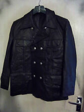 VINTAGE POST WW2 HARRO GERMAN LEATHER POLICE OFFICERS JACKET SIZE M