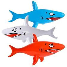 3 PC LARGE SIZE 46 INCH INFLATABLE BLOW UP TOY SHARK play fake inflate sharks